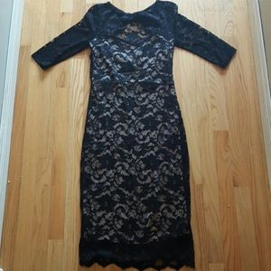 ASOS BLACK LACE MATERNITY DRESS